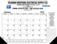 House of Doolittle Custom-Printed Desk Pad Calendar (Ordering Minimum is 500) -1