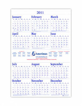House of Doolittle Custom-Printed Poster-Style Yearly Calendar