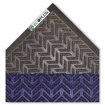 "Crown EcoPlus Mat, 3"" x 10"", Midnight Blue and Charcoal"