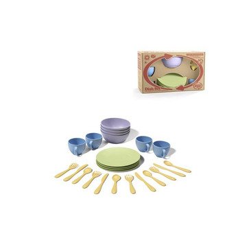 Green Toys-Play Dishes and Flatware Set for Kids