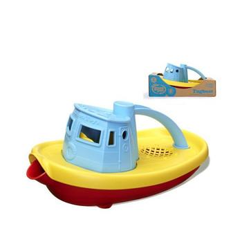 Eco-Friendly Tug Boat Bath Toy-Blue