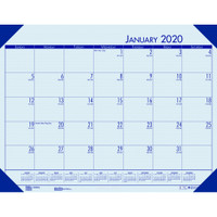 House of Doolittle (HOD124640) Ecotones Desk Pad Calendar, Blue 18 1/2 x 13