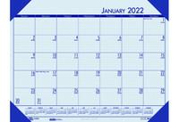House of Doolittle (HOD124640) Ecotones Desk Pad Calendar, Blue 18 1/2 x 13