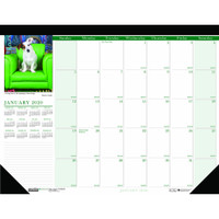 House of Doolittle (HOD1996) Earthscapes Puppies Desk Pad Calendar 18 1/2 x 13