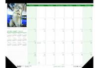House of Doolittle (HOD1996) Earthscapes Puppies Desk Pad Calendar 18 1/2 x 13