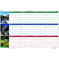 House of Doolittle (HOD3931) Earthscapes Scenic Laminated Wall Planner 32 x 48