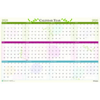 House of Doolittle (HOD3984) Floral Laminated Wall Planner 24 x 37
