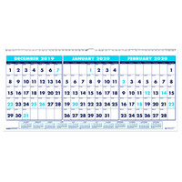 House of Doolittle (HOD3648) Three-Month Horizontal Version Wall Calendar 23 1/2 x 12