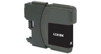 Brother LC61BK, Remanufactured Inkjet, Black