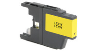 Brother LC71/LC75XL, Remanufactured Ink Jet - Yellow