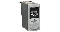 Canon PG-50, Remanufactured InkJet Cartridges, Black (High Yield)
