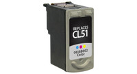 Canon CL-51, Remanufactured InkJet Cartridges, Color (High Yield)
