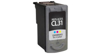 Canon CL-31, Remanufactured InkJet Cartridges, Tri-Color