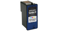 Dell Series 9, Remanufactured InkJet Cartridges, Tri-Color (High Yield)