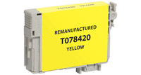 Epson T078420, Remanufactured InkJet Cartridges, Yellow