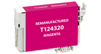 Epson T124320, Remanufactured InkJet Cartridges, Magenta
