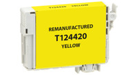Epson T124420, Remanufactured InkJet Cartridges, Yellow