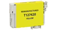 Epson T127420, Remanufactured InkJet Cartridges, Yellow (Extra High Capacity)