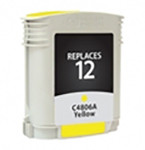 HP 12, Remanufactured InkJet Cartridges, Yellow