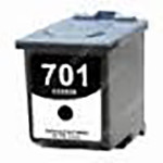 HP 701, Remanufactured InkJet Cartridges, Black