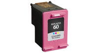HP 60, Remanufactured InkJet Cartridges, Tri-Color