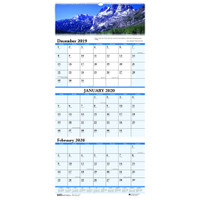 House of Doolittle (HOD3647) Three-Month Horizontal Wall Calendar