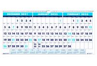 House of Doolittle (HOD3647) Three-Month Horizontal Wall Calendar