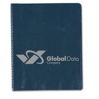 """Academic Monthly Planner with Embossed Simulated Leather Cover 8-1/2"""" x 11"""", QTY 1000"""