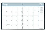 House of Doolittle (HOD262092) Monthly Calendar Planner 2 Year Black Hard Cover 8-1/2 x 11