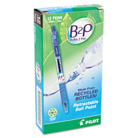 B2P Bottle-2-Pen Recycled Retractable Ballpoint Pen, 1mm, Dozen