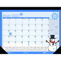 House of Doolittle (HOD139) Monthly Deskpad Calendar Seasonal Holiday Depictions 22 x 17 Inches