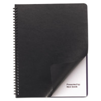 GBC Leather Look Binding System Covers, 11 x 8-1/2, Black, 200 Sets/Box