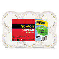 "Scotch Greener Commercial Grade Packaging Tape, 1.88"" x 49.2 yd, 3"" Core, 6/Pack, Clear"