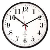 "Chicago Lighthouse Industries Quartz Slimline Clock, 12-3/4"", Black"