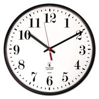 "Chicago Lighthouse Industries Quartz Slimline Clock, 12-3/4"", Black"