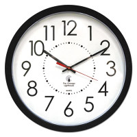 "Chicago Lighthouse Industries Electric Contemporary Clock, 14-1/2"", Black"