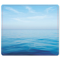 Fellowes Recycled Mouse Pad, Nonskid Base, 7 1/2 x 9, Blue Ocean
