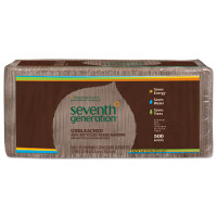 Seventh Generation 100% Recycled Napkins, 1-Ply, 12 x 12, Unbleached, 500/Pack, 2 Pack