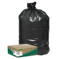 Earthsense Recycled Large Trash and Yard Bags, 33gal, .9mil, 32.5 x 40, Black, 80/Carton
