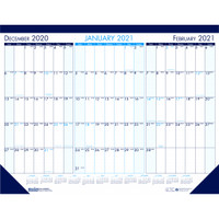 House of Doolittle (HOD136) Monthly Desk Pad Calendar 3 Month View 22 x 17