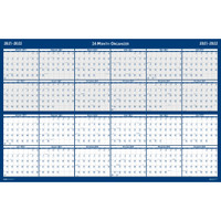 House of Doolittle (HOD3964) Laminated Wipe Off Wall Calendar Two Year Classic Reversible 24 x 37 Inches