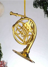 "3"" French Horn Ornament"