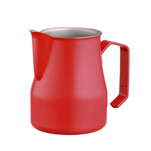 Motta Europa 350ml Milk Steaming Jug / Pitcher Red