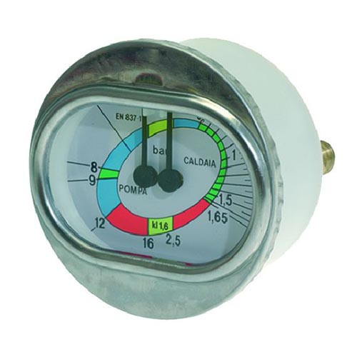 Boiler Pump Pressure Gauge 70mm 63mm 1/8 BSP M Connection White 1245013