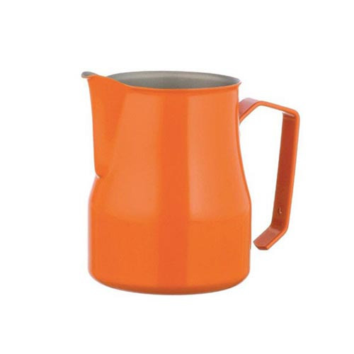 Motta Europa 350ml Milk Steaming Jug / Pitcher Orange