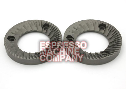 Genuine Grinder Burrs 64x37x8.4mm 3 hole RH (Pair) MAZZER SuperJolly MiniElectronic