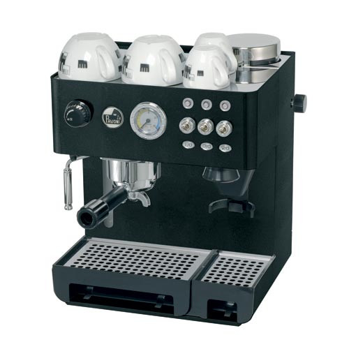 La Pavoni Domus Bar Black Espresso Machine with built-in Burr Grinder