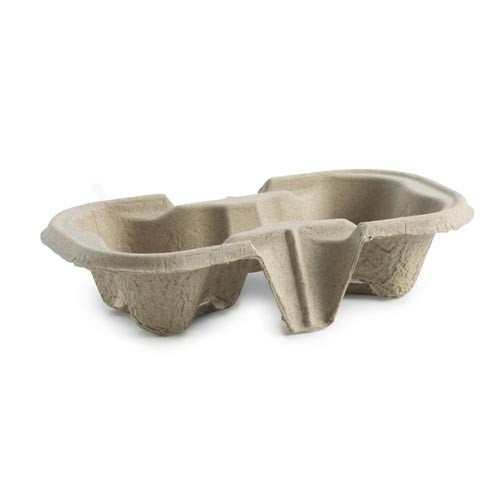 Carry tray for 2 Takeaway Coffee Cups - 50x