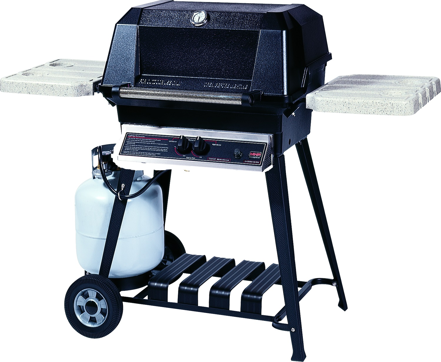 Mhp Gas Grills Wnk4 Natural Gas Grill W// Stainless Grids On Stainless Cart