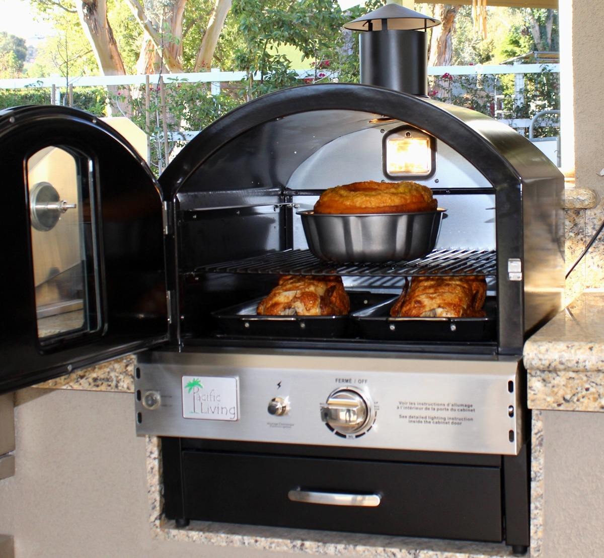 Pacific Living Black POwder Coat Outdoor Oven